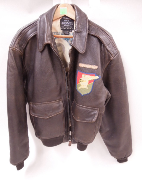 Vintage Leather Army Air Force Bomber Jacket