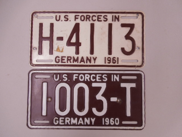 2 US Military License Plates