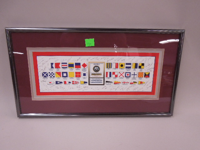 Framed Signal Corp Raytheon Piece