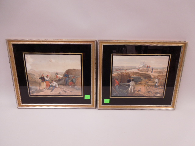 2 Framed Color Engravings
