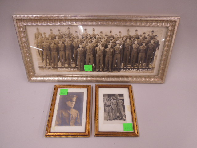 3 Framed Military Photos