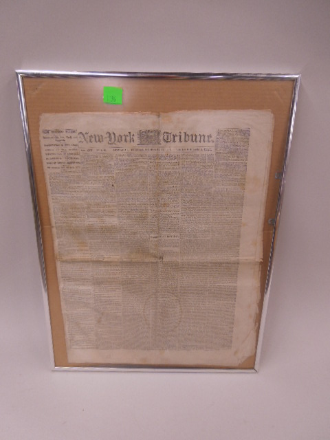 Framed 1862 NY Tribune