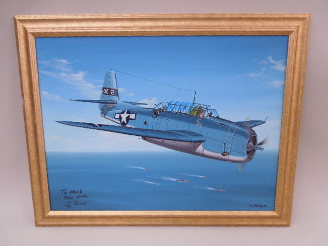 Oil on Canvas, Air Force Plane