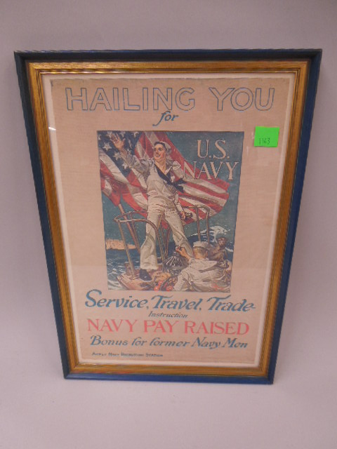 Framed Repro WW I Enlistment Poster