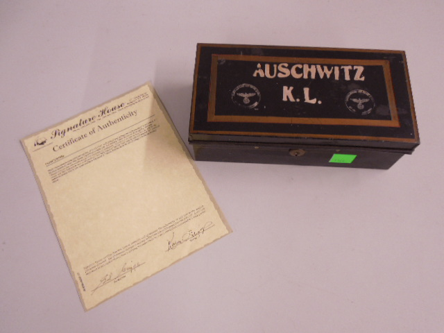 WW II tin Document Box From Auschwitz