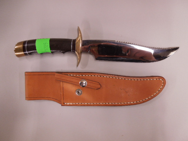 Polished Synthetic Handle Hunting Knife