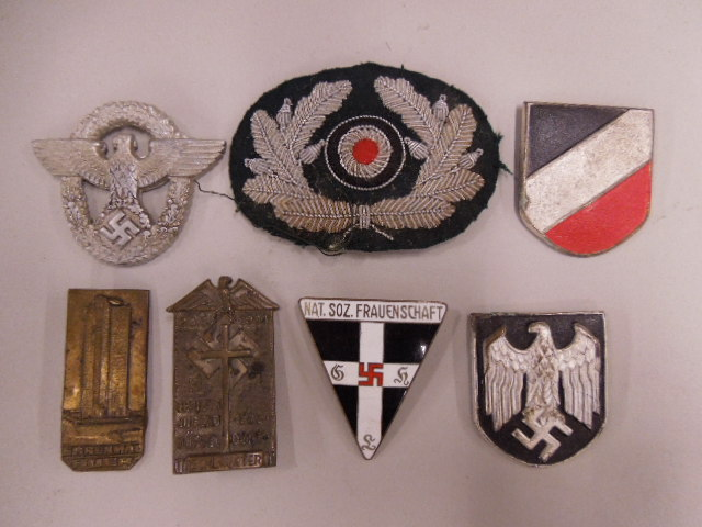 7 Assorted German Nazi Tinnies & Insignias