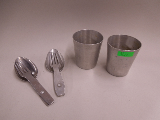2 WW II German Nazi Cup & Utensil Sets