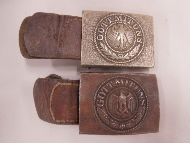 Pr of WW II German Army Belt Buckles