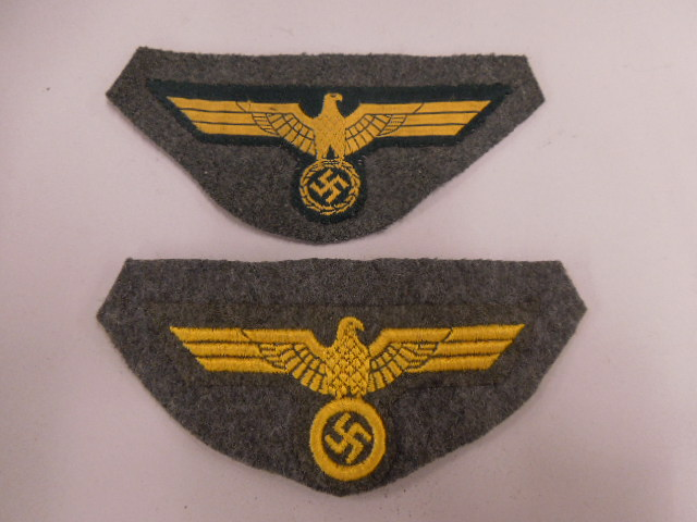 2 German Nazi Breast Patches