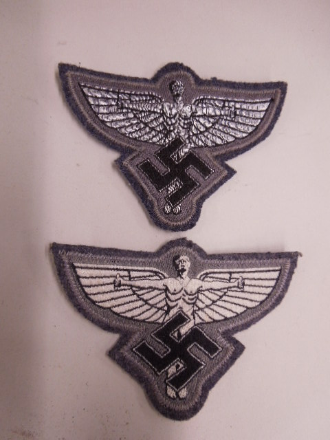 2 WW II German Nazi NSFK Cloth Badges