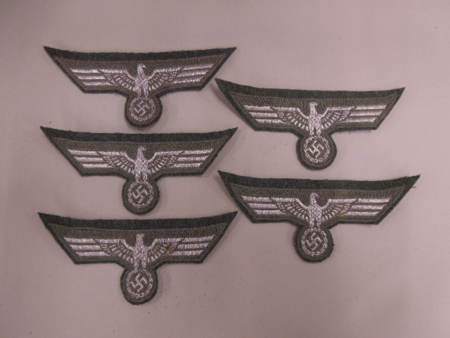5 M36 German Nazi Breast Patches