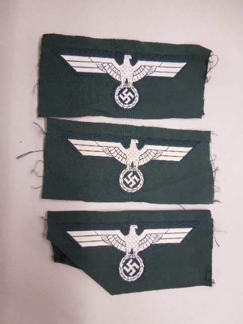 3 WW II German Nazi Panzer Breast Eagles