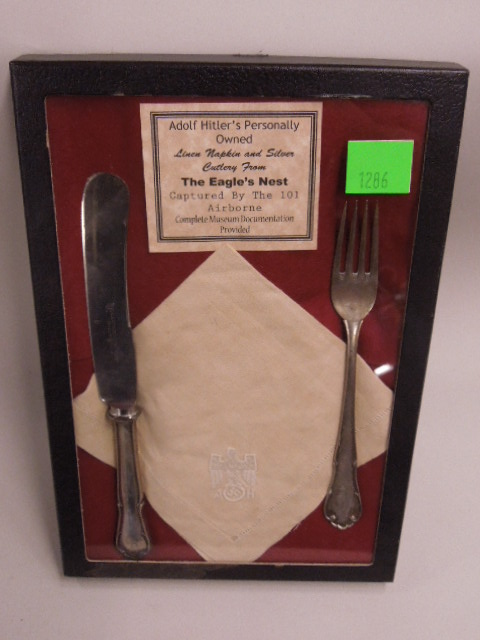 Adolf Hitler's Personally Owned Cutlery & Napkin