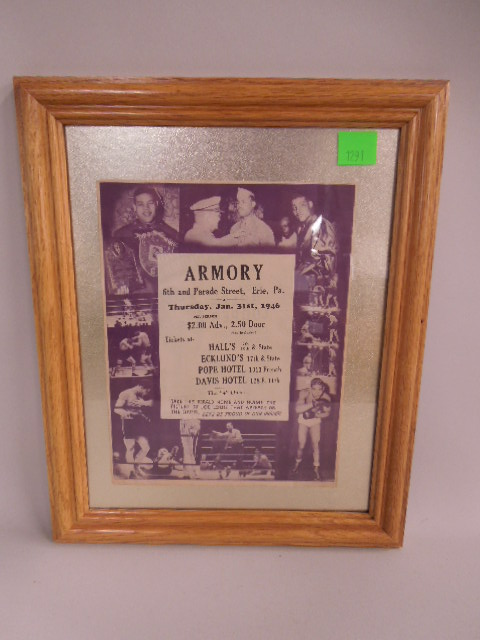 Original Joe Louis Armory Boxing Program Cover