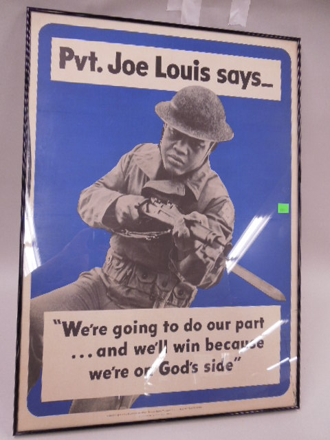 Joe Lewis Military Endorsement Poster