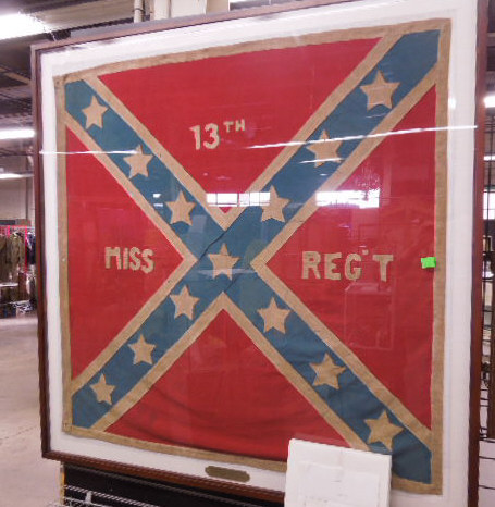 Framed 13th Miss Regiment & Battle Flag