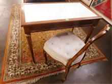 Regency Style Fruitwood Desk/Console & Chair