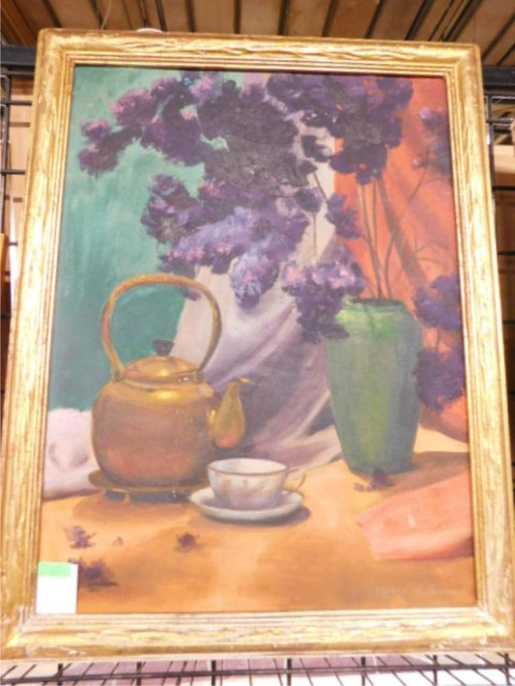 Helen h green signed oil painting for Oil paintings for the home