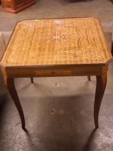 Italian Marquetry Inlaid Games Table