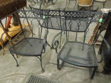 3 Pc Wrought Iron Patio Set