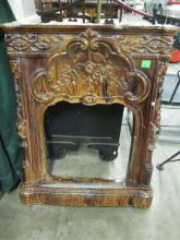 Rare American Majolica Fire Place Surround