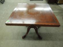 English Country Square to Round Dining Table