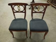 Pr French Empire Style Side Chairs