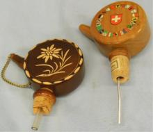 2 Wood Musical Bottle Stoppers