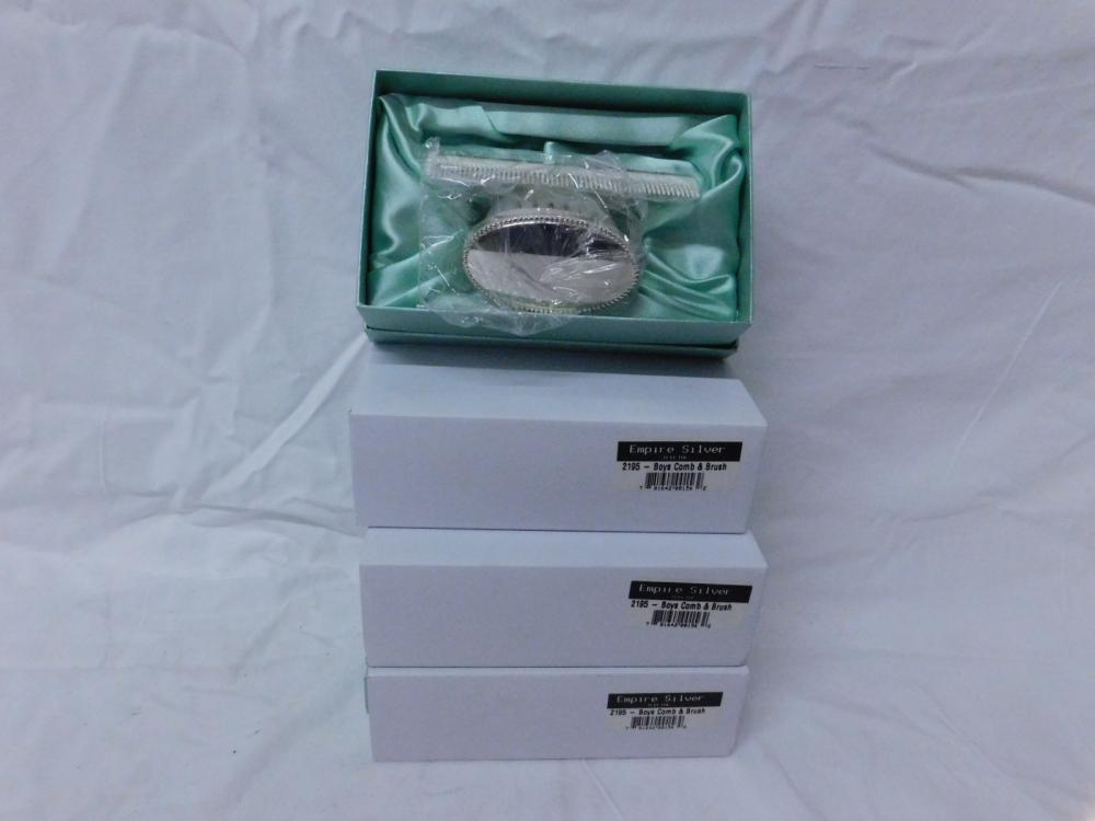 4 Sterling Silver Comb & Brush Sets