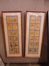 2 Framed Picture Book Pages