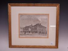 Early 19th C. Litho Friends Meeting House