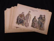 20 Hand Colored Lithos, German