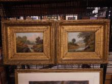 R. Marshall Signed Oil Paintings