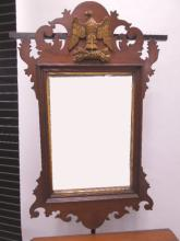 Chippendale Eagle Crested Wall Mirror