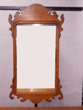 Chippendale-Style Curly Maple Mirror