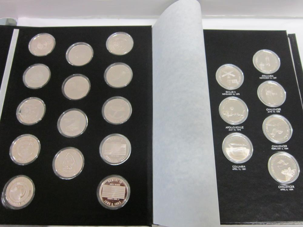 F. Mint Official American Space Sterling Medals