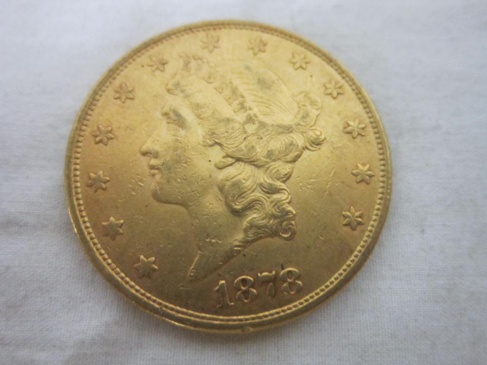 1878 S Liberty $20 GOLD COIN