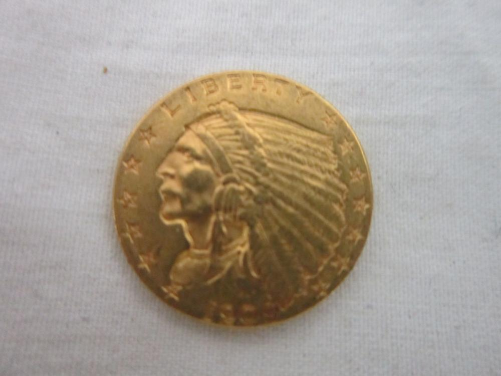 1909 $21/2 indian head gold coin
