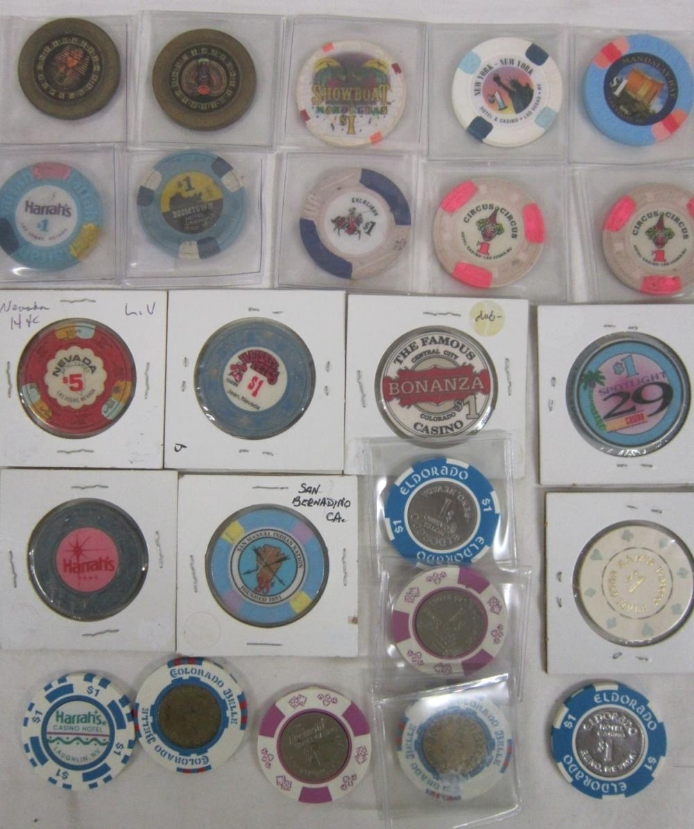 Lot Vintage and Other Casino Chips
