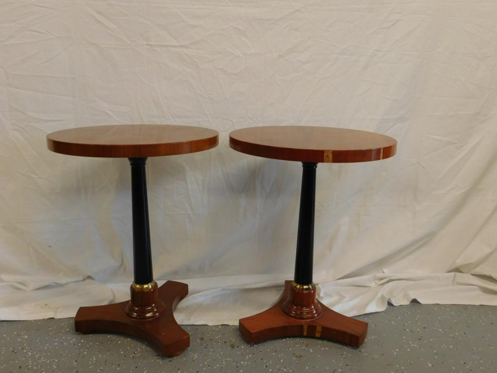 Pr French Empire Style End Tables