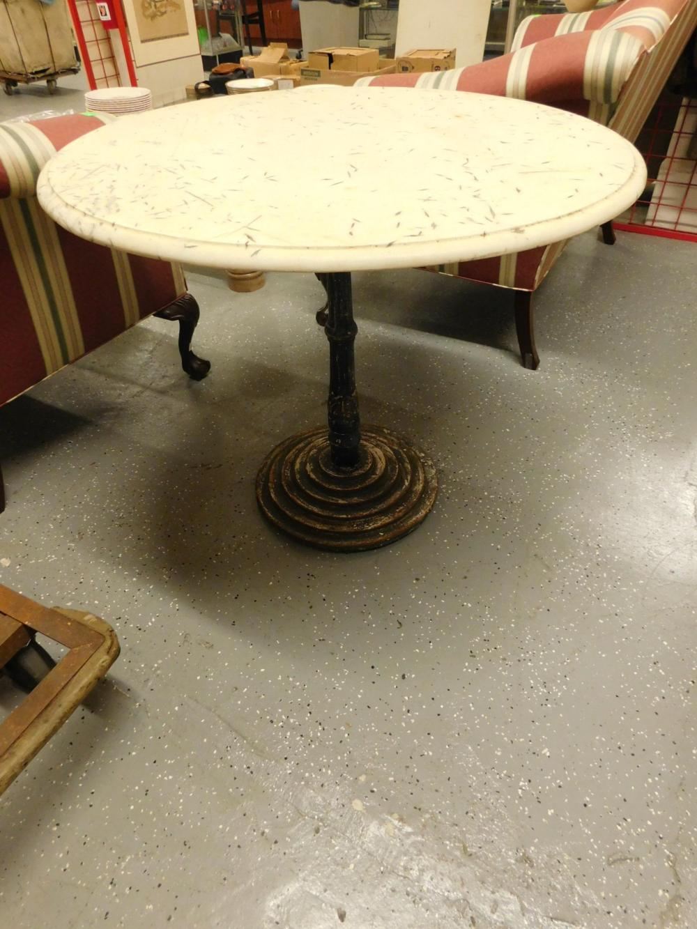 Marble Top Ice Cream Table