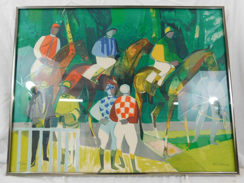 Camille Hilaire Litho Jockey in Paddock