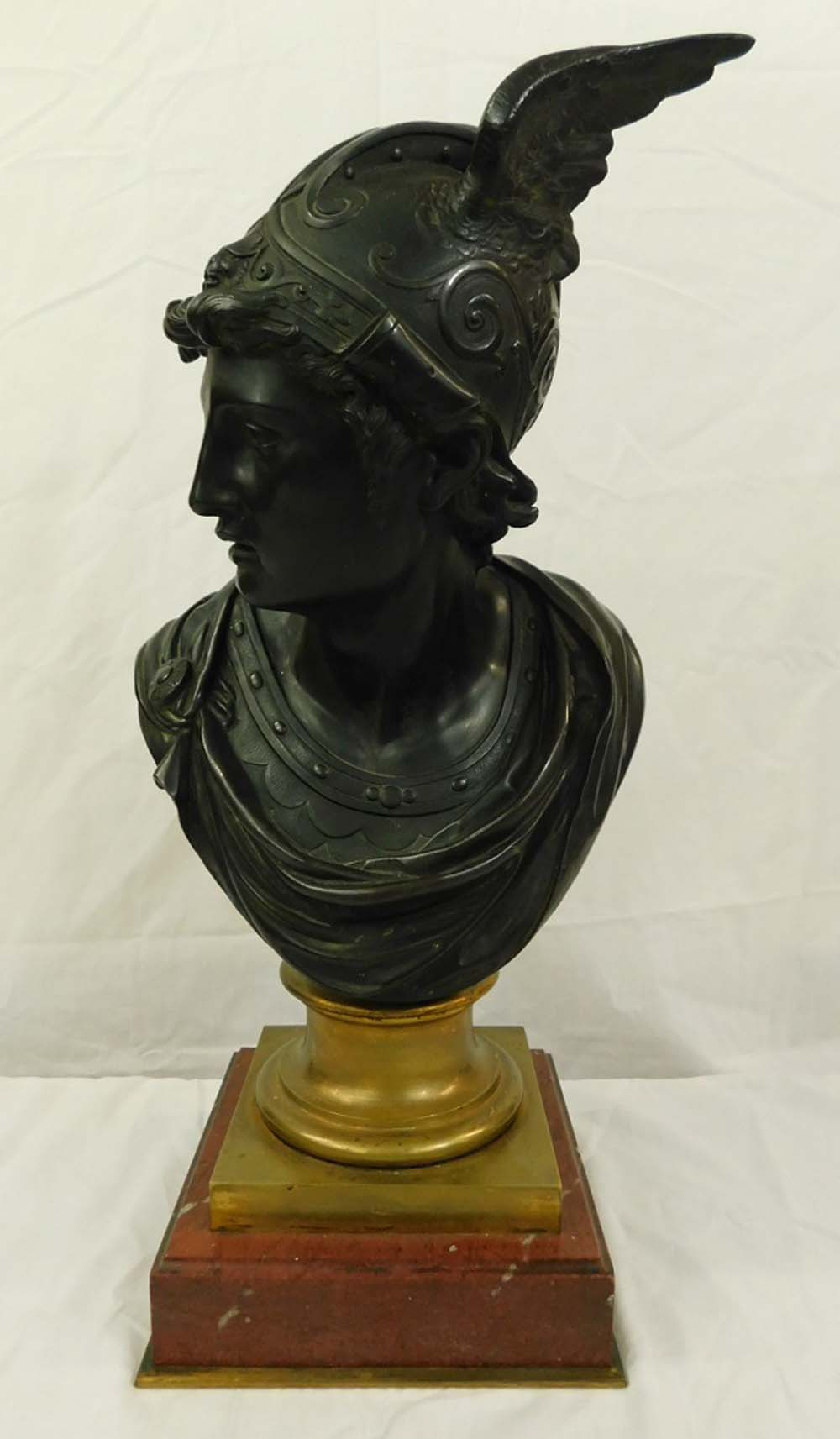 Antique French Bronze Bust of Mercury