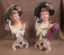Pr Victorian Faience Busts