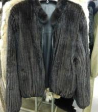 Ranch Mink Cord & Leather Jacket