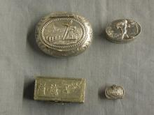 4 Continental Silver Pill Boxes