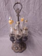 Victorian Silver Plate Caster Set