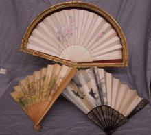 3 Decorated Hand Fans