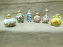 6 Chinese Porcelain Snuff Bottles